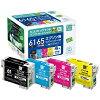 エコリカ エプソン:IC4CL6165 4色セット 対応 エコリサイクルインクカートリッジ ECI-E6165-4P