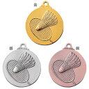 ASACO(アサコ)SMメダル バドミントン SM7218-B 直径40mm【Medals】