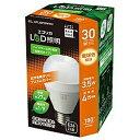エコリカ LED電球 E26口金 3.5W一般電球タイプ 電球色相当 1個入り