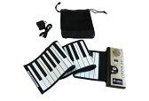 ロールピアノ61 ACアダプター付き 電子ピアノ 128種類の音色 ローリングピアノ