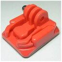 GOBROS.ヘルメット対応 クランプ&マウントSET レッド GB0112 GB0112