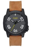 ニクソン/NIXON 腕時計 THE RANGER 40 LEATHER BLACK/GUNMETAL/NATURAL(レンジャー 40 レザー ブラック/ガンメタル/ナチュラル) NXS-NA4712093-00 メンズ