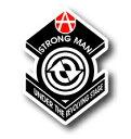 コトワザステッカー(縁の下の力持ち/STRONG MAN UNDER THE REVOLVING STAGE)防水加工