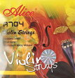 ALICE A704 Violin Strings バイオリン用セット弦 アルミ巻き アリス ヴァイオリン用セット弦 スチールコア/アルミアロイ巻き