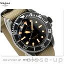 ヴァーグウォッチ 腕時計 メンズ ブラックサブ ブラック×オリーブ ナイロンベルト VAGUE WATCH Co. BS-L-001