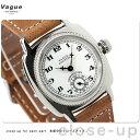 ヴァーグウォッチ 腕時計 メンズ スモールセコンド クッサン ホワイト×ブラウン レザーベルト VAGUE WATCH Co. CO-L-001
