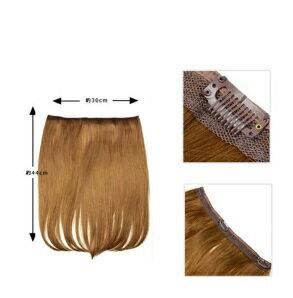 Never Ever Wig 楽々エクステンション さらさら ナチュラルストレート 耐熱襟足ウィッグ ワンタッチ つけ毛 EX08