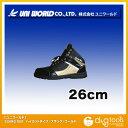 ユニワールド) 安全靴 GUANG DER ハイカットタイプ ブラック/ゴールド 26cm (GD-tx888)の画像