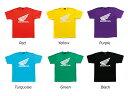 (ホンダ) Tシャツ ウイング ターコイズ 0SYTN-M5B トラベルバッグ付【10SS0301】 / ターコイズ / L / 0SYTN-M5B-BL