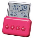 SMARTEK(スマーテック) デジタル置き時計 シースルーディスプレイ表示 ピンクML-937-ZPK