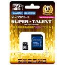 SUPER TALENT UHS-I Class10 対応 microSDHC/XCカード 16GB ST16MSU1P ST16MSU1P
