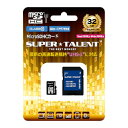 SUPER TALENT UHS-I Class10 対応 microSDHC/XCカード 32GB ST32MSU1P ST32MSU1P