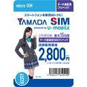 U-NEXT U-mobile プリペイド3.0GB nanoSIM UM3GPN