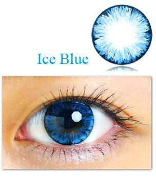 クオーレ カラコン 度なし フレスコシリーズ Ice Blue 14.0mm 2枚入