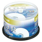 マクセル データ用 CD-R 48倍速対応 インクジェットプリンター対応(ノンワイド) 700MB 50枚(スピンドルケース) CDR700S.PNW.50SP