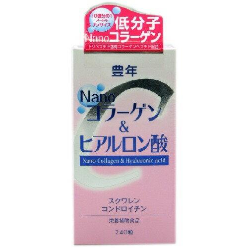Jオイル ナノコラーゲン&ヒアルロン酸 240粒