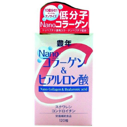 豊年NANOコラーゲン&ヒアルロン酸 120粒