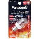 パナソニック LED装飾電球 T形クリアタイプ 電球色相当 E12口金 LDT1LE12C