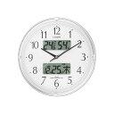 CITIZEN シチズン 電波掛時計 ネムリーナカレンダーリブ 4FYA05-003