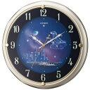 シチズン アミュージングクロック 電波掛時計 ファンタジータウン シャンペンゴールド 4MY819-018