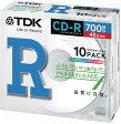 TDK PCデータ用 CD-R 700MB 48倍速対応 ホワイトディスク 10枚 CD-R80PWX10A