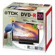 TDK DVD-R 1回録画用デジタル放送対応(CPRM) 1-16倍速対応 120分 20枚 DR120DPWC20UE