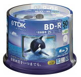 TDK 1回録画用ブルーレイディスク 25GB 1-4倍 50枚 GBRV-25PWB50PF