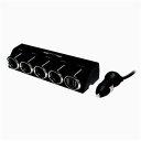 カシムラ 4連セパレートソケット USB2ポート KX187