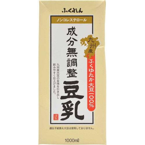 ふくれん 九州産ふくゆたか大豆成分無調整豆乳 1000X6