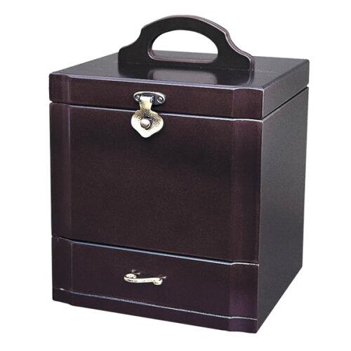 木製コスメボックス メイクボックス ダークワイン色 Gー980R