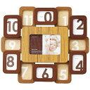 ラドンナ ベビーフォトフレーム 12ヶ月木目の窓枠がオシャレ DF54-130