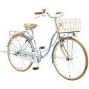 アサヒサイクル 26型 自転車 リトルガール26S アースブルー/シングルシフト