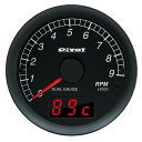 PIVOT DUAL GAUGE DXT 60φアナログ:タコメーター+デジタル:水温・電圧・油温計