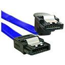 オウルテック SATA3.0(6Gbps)対応ケーブル ストレート-下L型 ブルーカラータイプ 30cm OWL-CBSATA-SLU30(BL)