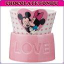 《ミッキー&ミニー》チョコレートフォンデュセット(フォーク2本/キャンドル付き)の画像