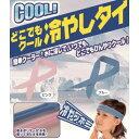 (吸水ポリマーが水を吸って冷たさキープ! ) どこでもクール 冷やしタイ ブルーの画像