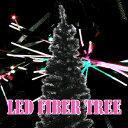 クリスマスツリーに最適!高輝度LEDファイバーツリー 【ブラック、高さ150cm】