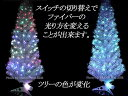 クリスマスツリーに最適!高輝度LEDファイバーツリー 【グリーン、高さ210cm】