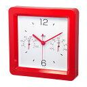 クレセル 時計・温度計・湿度計 壁掛け・卓上両用 TC-450R レッド
