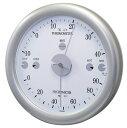クレセル 家庭用温度計・湿度計 CR-24S シルバー