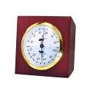 クレセル 天然木枠 温度計・湿度計 CR-640