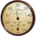 クレセル 園芸用 温度計・湿度計 壁掛け用 TR-150BR ブラウン