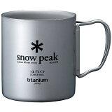 スノーピーク snowpeak チタンダブルマグ 450ml MG-053R