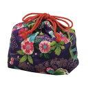 たつみや 巾着袋楽園 紫の画像