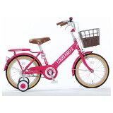 タマコシ16型 幼児用自転車 ルイスアミューズキッズ16 ピンク/シングルシフト アミューズキッズ