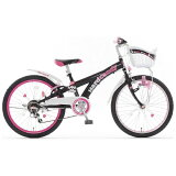 タマコシ 20型 子供用自転車 ハードキャンディCTB206 ブラック/6段変速