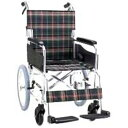 アルミ製ハンドブレーキ車椅子(介助式) 背折れタイプ セレクト30 KS30-4038GC グリーンチェック