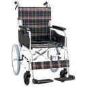 アルミ製ハンドブレーキ車椅子(介助式) 背折れタイプ セレクト30 KS30-4238GC グリーンチェック