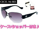 CECIL Mc BEE/セシルマクビー CMS-1002-1 CECILMcBEE サングラス ブラック×スモークグラデーション