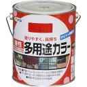 アサヒペン 油性多用途カラー 赤 1.6L
